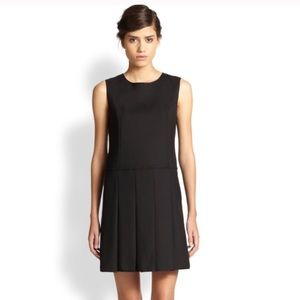 NEW Marc Jacobs Black Pleated Shift Dress